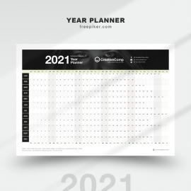 Year Planner 2021 - New Year Calendar