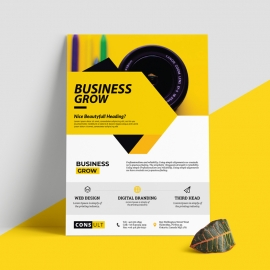 Yellow Accent Business Flyer