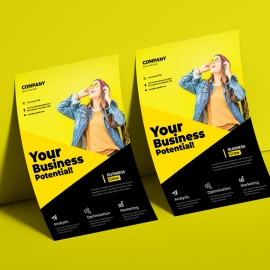 Yellow And Black Business Flyer / Poster