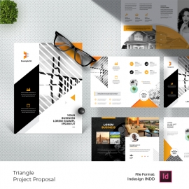 Yellow Black Business Project Proposal With Triangle
