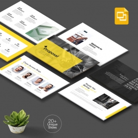 Yellow Proposal Google Slide Template