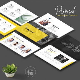 Yellow Proposal PowerPoint Presentation Template